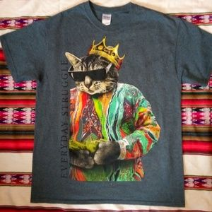Other - Gangster coogi biggie smalls cat tee shirt